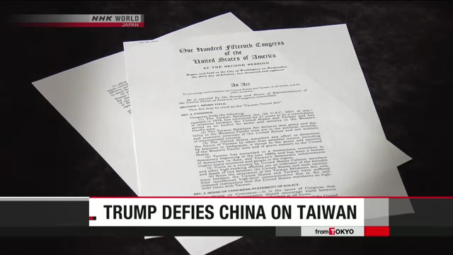 Trump Defies China over Taiwan